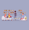 public library people vector image vector image