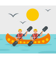 rafting adventure background flat style vector image