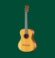 realistic detailed acoustic guitar musical vector image vector image