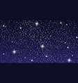 realistic starry sky with bright stars in the vector image vector image