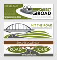 road travel company or agency banners set vector image vector image