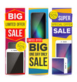 sale banner set discount special offer vector image