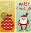 set christmas card vector image vector image