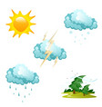 set of different weather icons vector image vector image