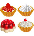set of fruit desserts with jelly vector image vector image