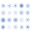 snowflake in blue on white background vector image