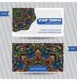 templates set of business card with vector image vector image