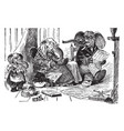 the animals picnic vintage vector image vector image