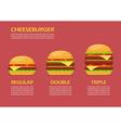 Three hamburgers set infographic vector image vector image