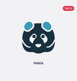 two color panda icon from animals concept vector image vector image