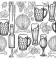 watercolor oktoberfest seamless pattern vector image