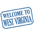 West Virginia - welcome blue vintage isolated vector image vector image