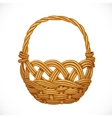 Wicker basket isolated on white background vector image vector image