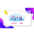 winter activities and sports website landing page vector image vector image