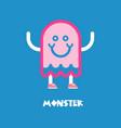 kids monster logo vector image