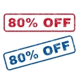 80 Percent Off Rubber Stamps vector image vector image