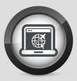 air company website icon vector image vector image