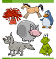 animals cartoon characters set vector image vector image