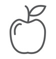 apple line icon food and meal fruit sign vector image