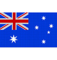Australian flag embroidery design pattern vector image vector image