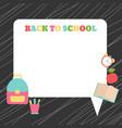 back to school back to school vector image vector image