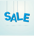 blue label sale hanging on a thread vector image vector image