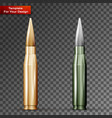 bullets on transparent background vector image