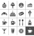 Cafe and confectionery icons vector image