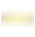 car gold halftone grid vector image vector image