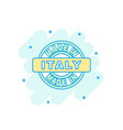 cartoon colored made in italy icon in comic style vector image