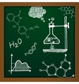 chalk draw chemistry elements vector image vector image