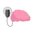 charging for brain human brains and charger vector image