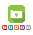 Color set of flat folder with trash bin vector image