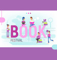 concept for book festival vector image vector image