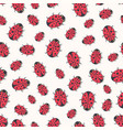 cute ladybirds seamless pattern print for kids vector image vector image