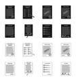 design form and document symbol set of vector image
