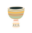 djembe or african goblet drum musical percussion vector image vector image