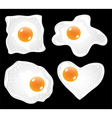 eggs fried vector image vector image