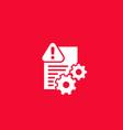 error bug report icon on white vector image vector image