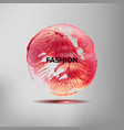 fashion inspirational quote on acrylic stain vector image