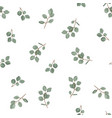 floral seamless pattern plant texture for fabric vector image vector image