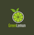 green lemon logo design template for your company