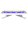 high speed trains set vector image