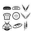 Icons of hot bread vector image