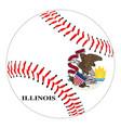 ilinois flag baseball vector image vector image
