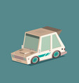 isometric racing car isolated on color background vector image vector image