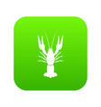 lobster icon digital green vector image
