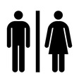 Male female wc sign vector image vector image