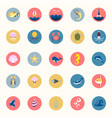 marine icons set sea and ocean emblems flat vector image vector image