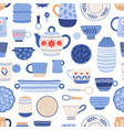 modern ceramics flat seamless pattern vector image vector image